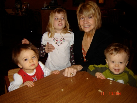 Grammy with my 3 little ones.